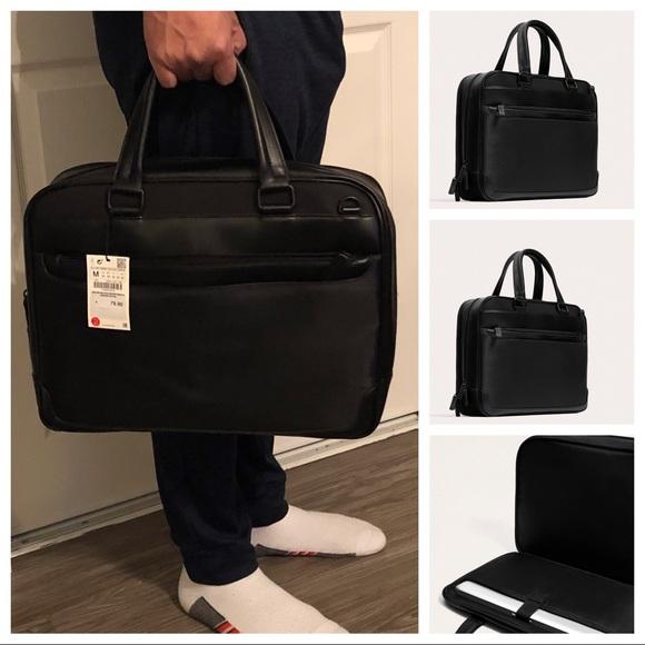 74d2bedd5b Zara Bags | Mens Black Briefcasemessenger Crossbody Bag | Poshmark
